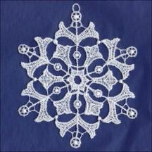 "White Lace Snowflake Ornament ~ 4"""