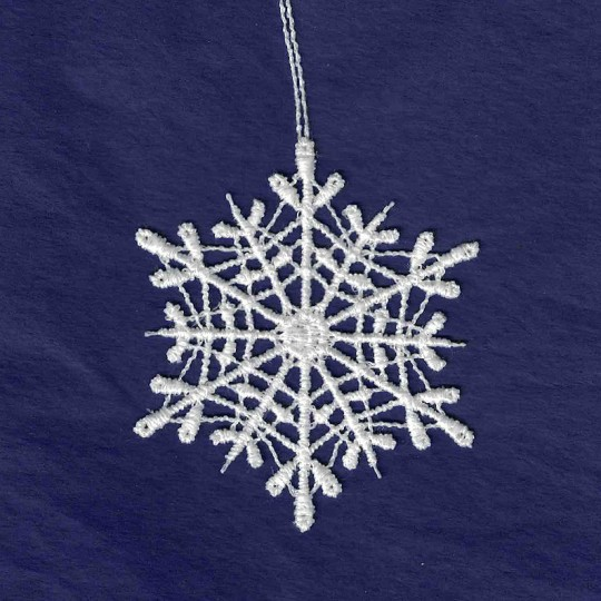 White Lace Classic Snowflake Ornament ~ 2-3/4""