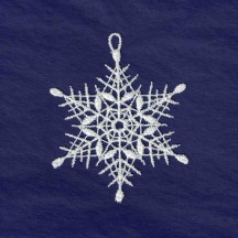 White Lace Classic 6-Pointed Snowflake Ornament ~ 2-3/4""