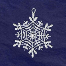 White Lace Classic Webbed Snowflake Ornament ~ 2-3/4""