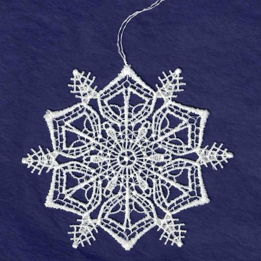 """White Lace Classic Snowflake Ornament ~ 3-1/4"""""""