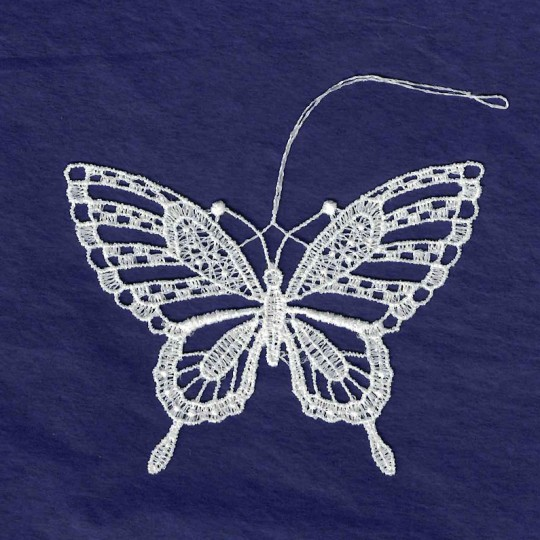 """White Lace Butterfly Ornament ~ 3-1/4"""""""