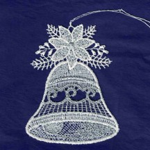 """White and Silver Lace Christmas Bell Ornament ~ 3-1/2"""""""