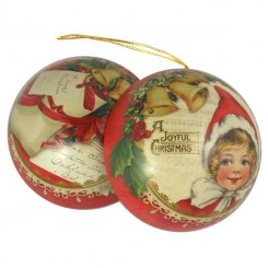 Metal Ornament Gift Tins from England