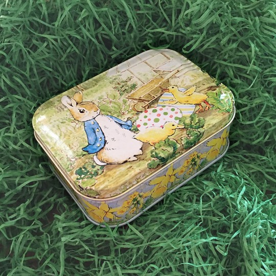 "Peter Rabbit Easter Tin ~ 4-1/4 x 3-1/4"" ~ England"