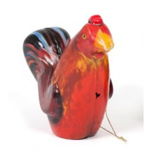"""Red Rooster Metal Easter Ornament ~ 3"""" tall"""