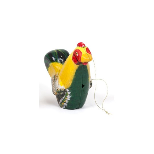 """Yellow Rooster Metal Easter Ornament ~ 3"""" tall"""