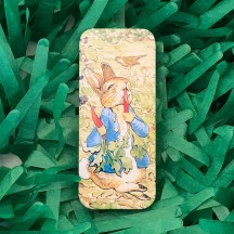 "Small Peter Rabbit with Carrots Sliding Easter Tin ~ 3-1/8 x 1-3/8"" ~ England"