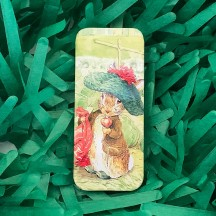 "Small Peter Rabbit Benjamin Bunny Sliding Easter Tin ~ 3-1/8 x 1-3/8"" ~ England"