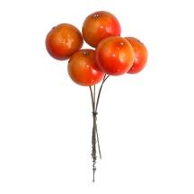 "5 Two Tone Orange Lacquered Apples ~ 1"" ~ Czech Republic"
