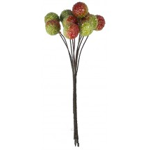 "10 Two Tone Green Textured Berries ~ 1/2"" ~ Czech Republic"