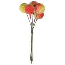 "7 Two Tone Yellow Textured Berries ~ 3/4"" ~ Czech Republic"