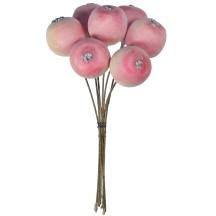 "7 Two Tone Matte Pastel Apples ~ 3/4"" ~ Czech Republic"