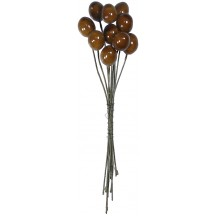 """10 Glossy Brown Olives ~ 1/2"""" ~ Czech Republic"""