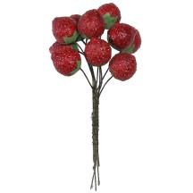 """10 Deep Red Textured Strawberries ~ 3/4"""" ~ Czech Republic"""