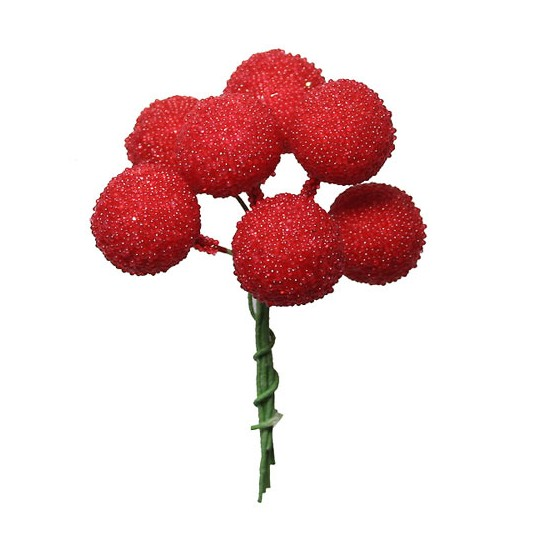 """7 Textured Raspberries from Germany ~ 5/8"""""""