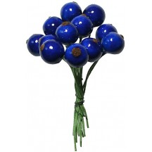 """12 Lacquered Spun Cotton Blueberries from Germany ~ 1/2"""""""