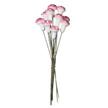 10 Small Pink Spun Cotton Woodland Pixie Mushroom ~ Czech Republic