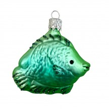 "Tropical Fish Blown Glass Ornament ~ Czech Republic ~ 2"" tall"