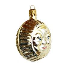 """Pale Golden Sun Ornament ~ Czech Republic ~ 2-1/2"""" tall"""