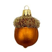 "Woodland Acorn Christmas Ornament ~ Czech Republic ~ 2-1/4"" tall"