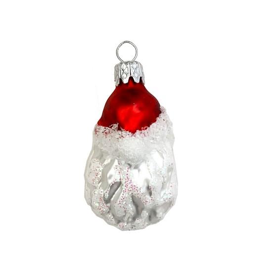 """Mini Blown Glass Santa Ornament ~ Czech Repub. ~ 2"""" tall"""