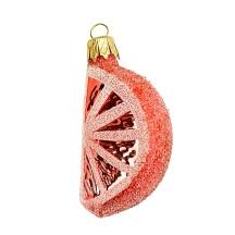 "Orange Slice Ornament ~ Czech Republic ~ 2-1/2"" long"