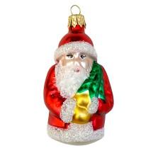 """Classic Red Blown Glass Santa Ornament ~ Czech Repub. ~ 2-7/8"""" tall"""