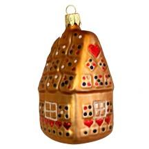 """Gingerbread House Christmas Ornament ~ Czech Republic ~ 3-3/4"""" tall"""