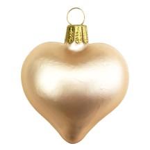 "Matte Sand Blown Glass Heart Ornament ~ Germany ~ 2-1/2"" long"
