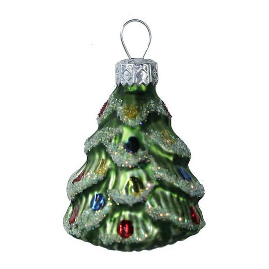 Matte Green Christmas Tree Ornament ~ Poland
