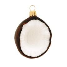 Blown Glass Coconut Ornament ~ Poland