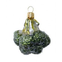 Blown Glass Broccoli Ornament ~ Poland