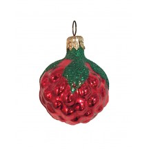 Blown Glass Red Berry Ornament ~ Germany