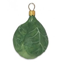 """Brussel Sprout Ornament ~ Poland ~ 2-1/4"""""""