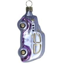 """Matte Light Purple Car Blown Glass Ornament ~ Germany ~ 3-1/8"""" tall"""