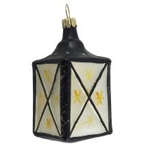 "Large Blown Glass Lantern Ornament ~ Germany ~ 3"" tall"