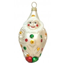 "Colorful Blown Glass Clown Ornament ~ Germany ~ 4"" tall"