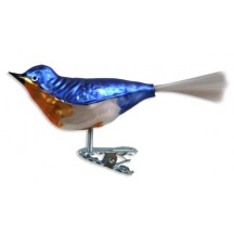 """Blue Bird Clipping Ornament ~ Germany ~ 4-1/2"""" long"""