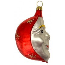 "Large Red Moon Ornament ~ Germany ~ 3-5/8"" tall"