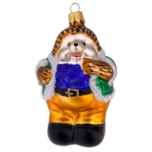 """Large Hedgehog Blown Glass Ornament ~ Czech Republic ~ 4-1/4"""" tall"""