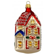 "Festive House Christmas Ornament ~ Czech Republic ~ 3-5/8"" tall"