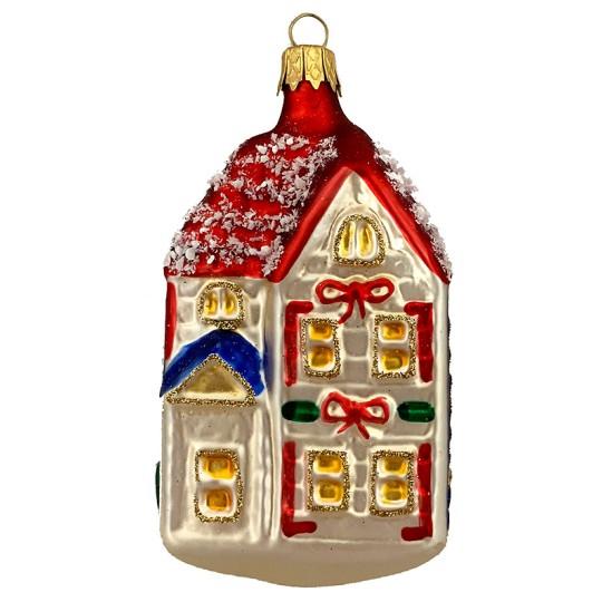 "Festive House Christmas Ornament ~ Czech Republic ~ 3-5/8"" tall"