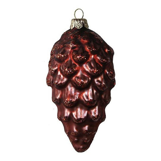 """Matte Brown Pine Cone with Open Scales ~ Czech Republic ~ 3-1/2"""" long"""