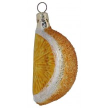 "Sugared Orange Slice Ornament ~ Czech Republic ~ 2-1/2"" long"