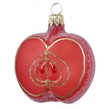 "Sugared Apple Ornament ~ Czech Republic ~ 2-1/2"" long"