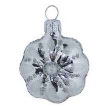 "Small Silver Flower Ornament ~ Czech Republic ~ 2"" tall"