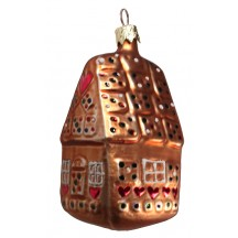 "Gingerbread House Christmas Ornament ~ Czech Republic ~ 3-3/4"" tall"
