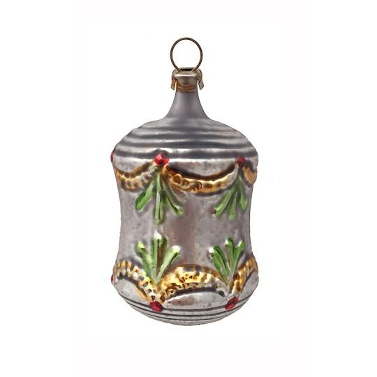 "Fancy SIlver Garland Ornament ~ Germany ~2-1/2"" tall"