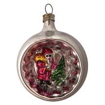 """Santa Indent Blown Glass Ornament ~ Germany ~ 2-1/2"""" tall"""